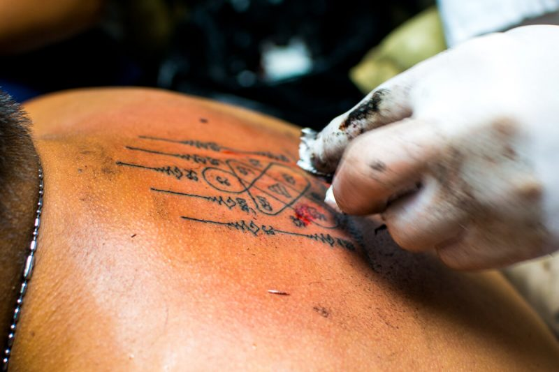 Getting a Sak Yant Tattoo in Bangkok 5