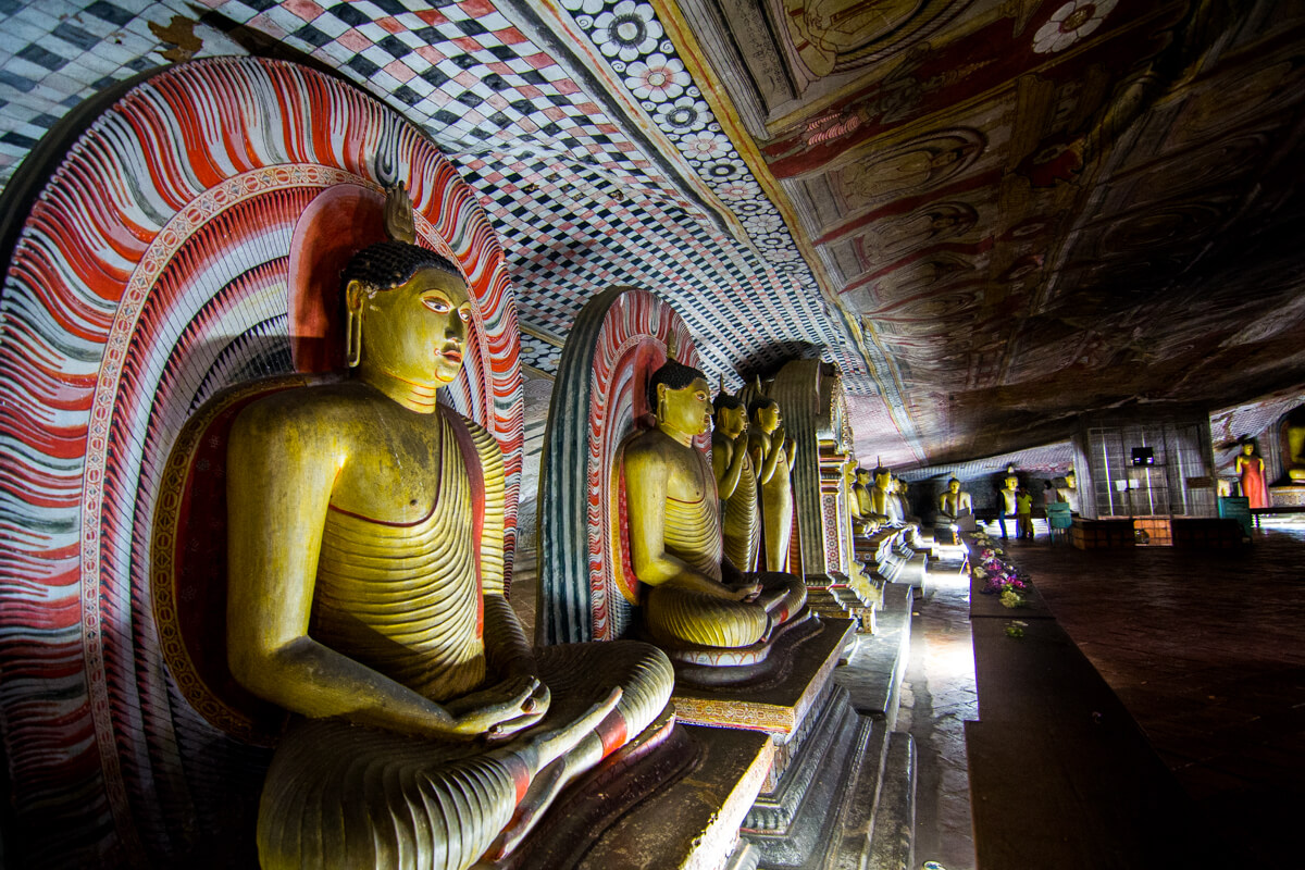 One of the five caves of the Dambulla Cave Temple