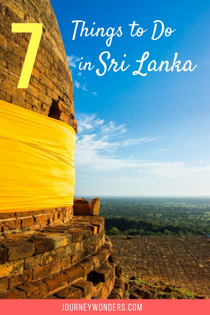 A Sri Lanka Travel itinerary for the best things to do and see including elephants, Sigiriya rock, temples and surf via @journeywonders