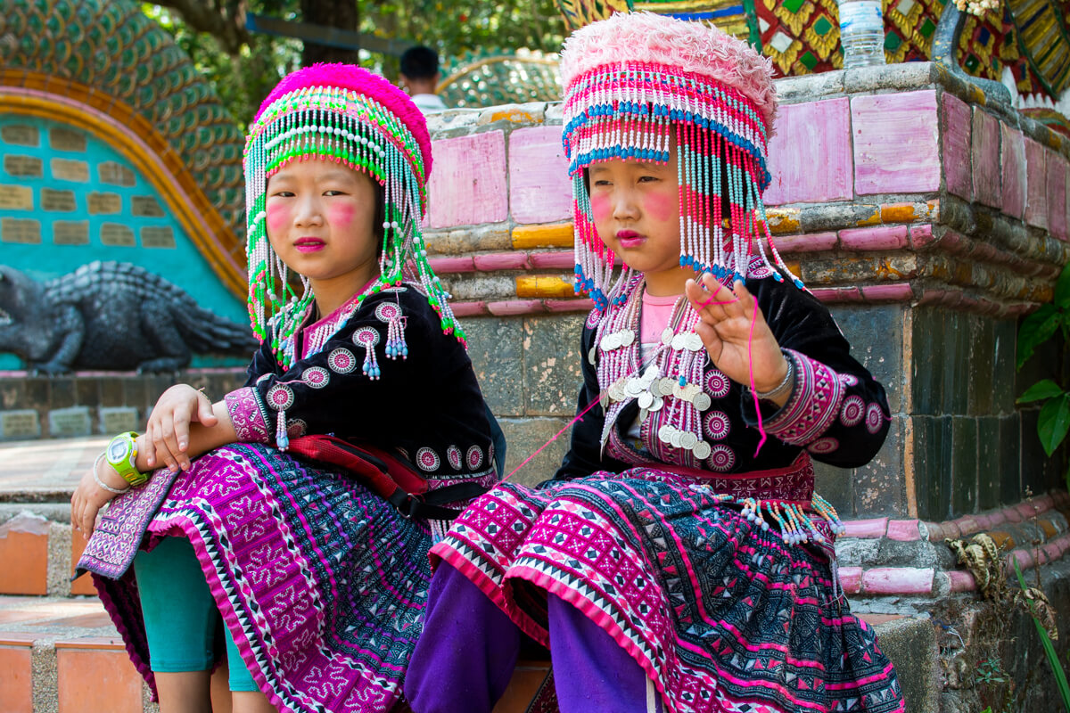 The tribe people of Chiang Mai Thailand