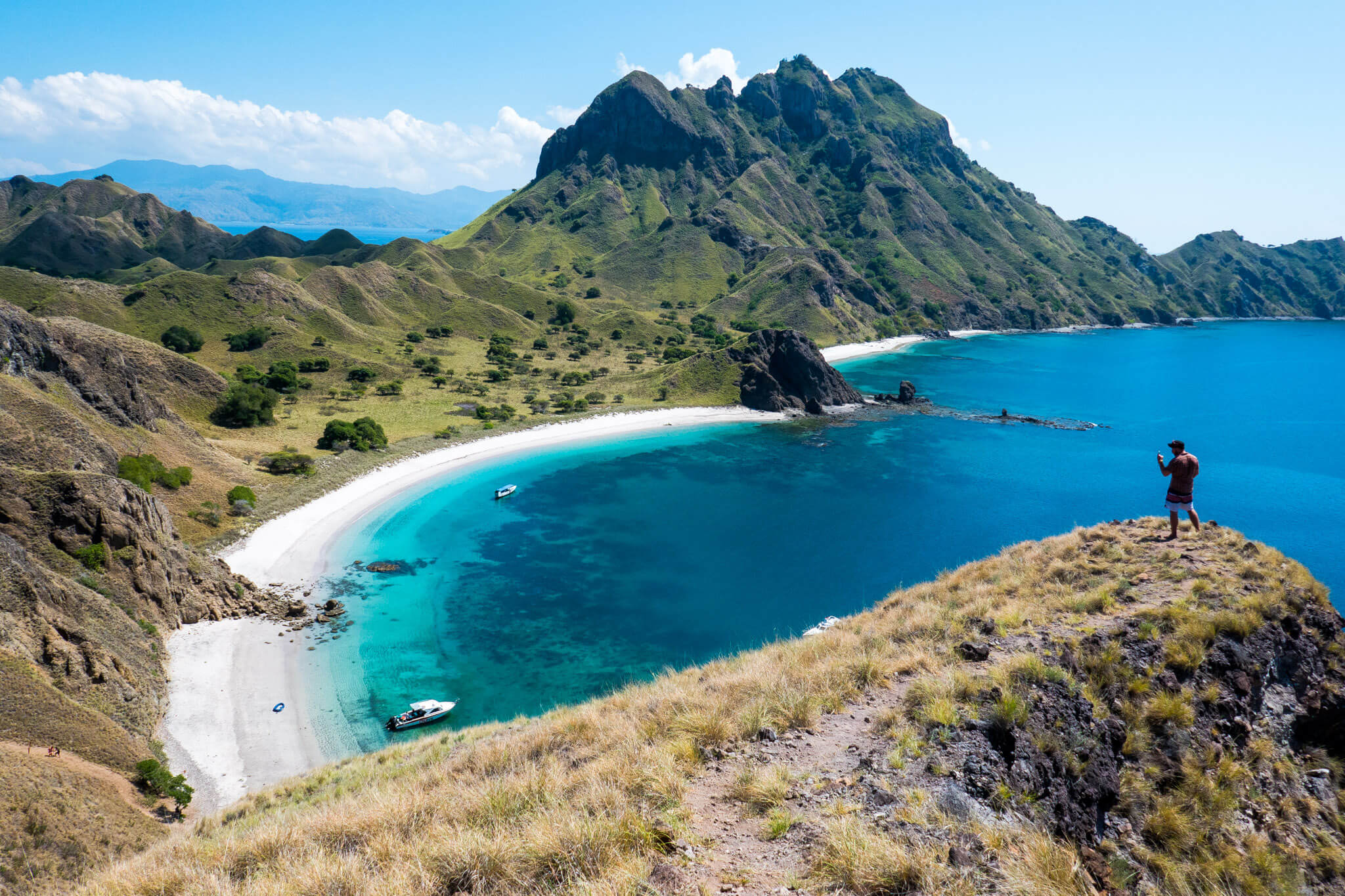 Hiking to the top of Padar Island, Komodo National Park