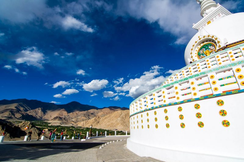 The Buddhist stupa atop Leh Ladakh