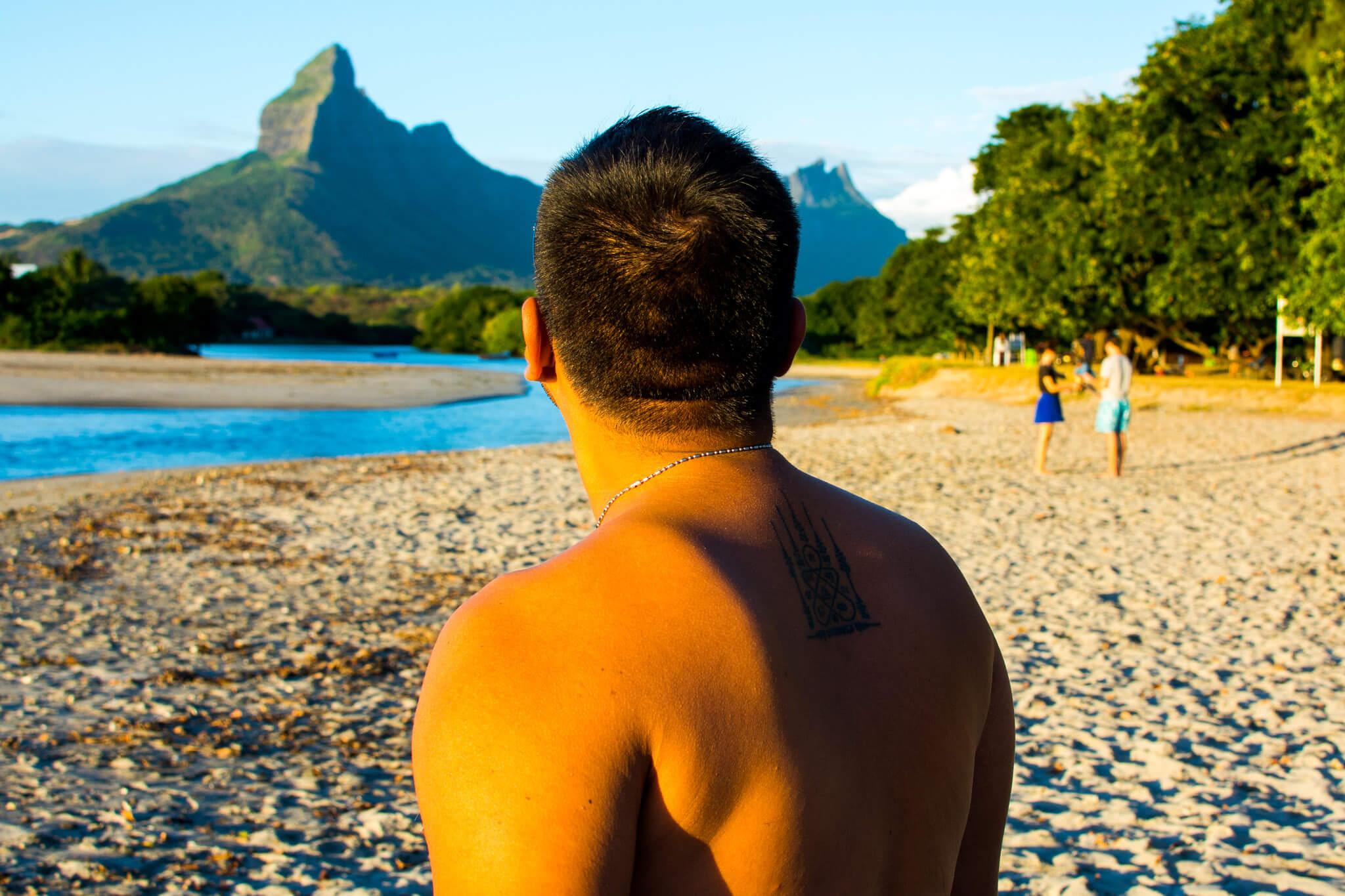 Tamarin beach, a surfer paradise