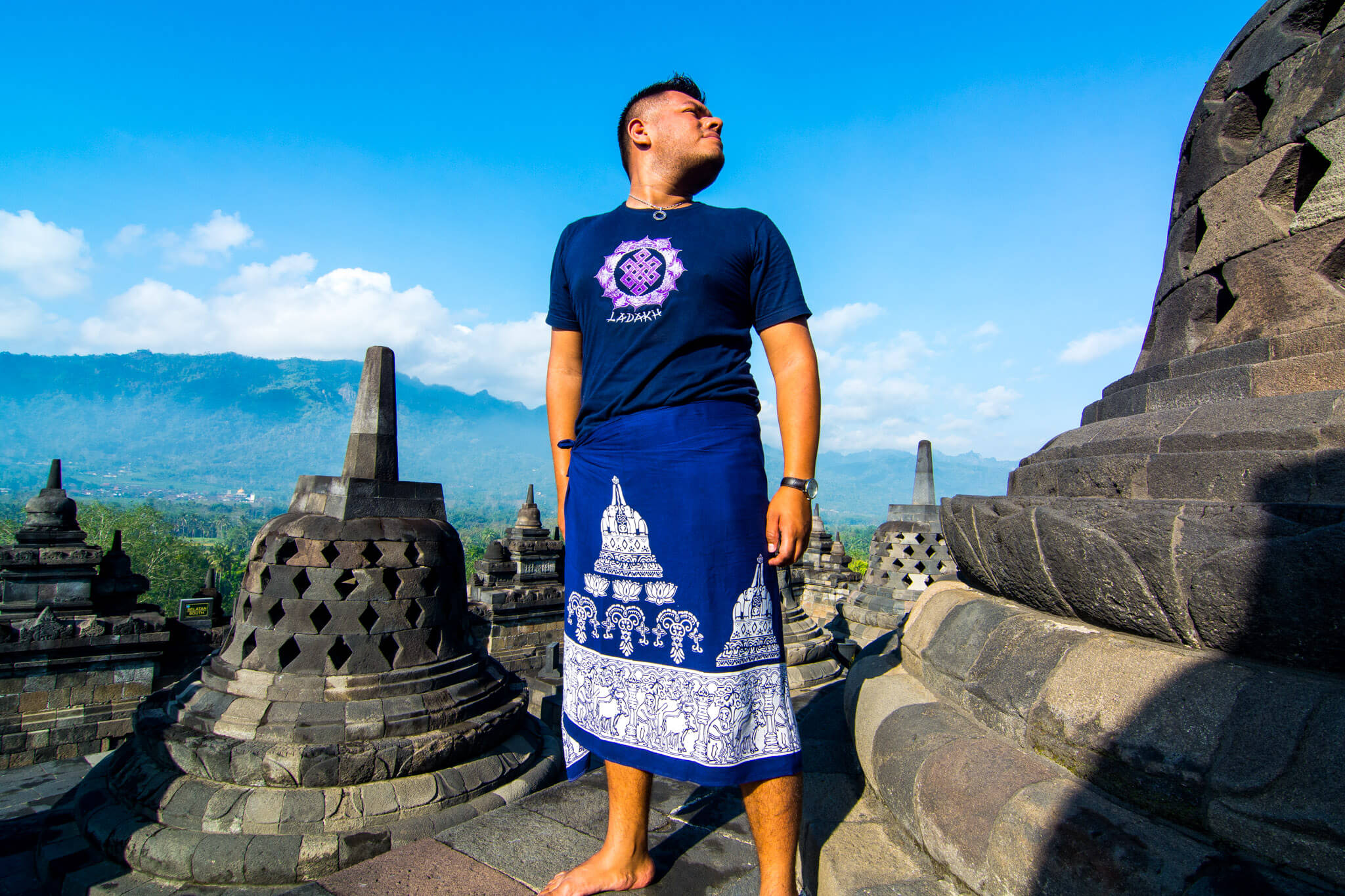 The Man of Wonders at Borobudur, Indonesia