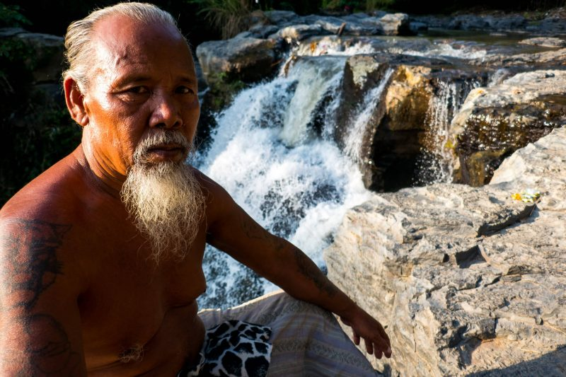 The Waterfall Man of Wonders of Bali