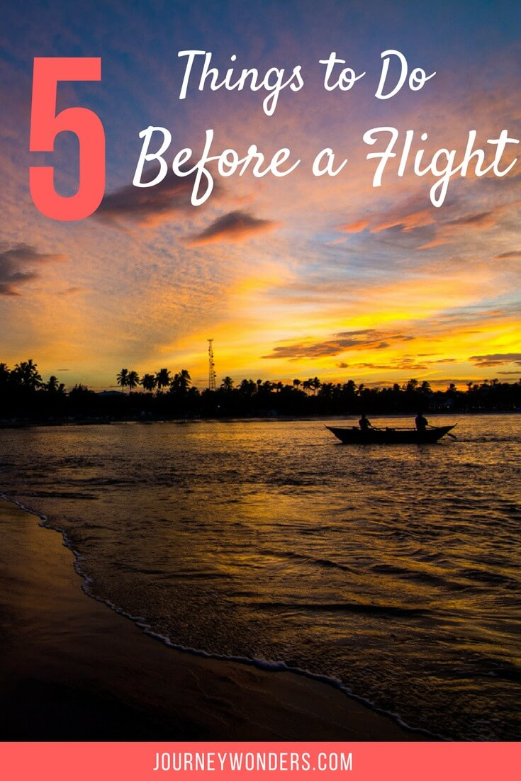 Traveling soon? Check out these 5 Essential Must-Do before an international flight and make your life way easier via @journeywonders
