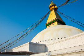 The Boudhanath Stupa, the biggest at Kathmandu