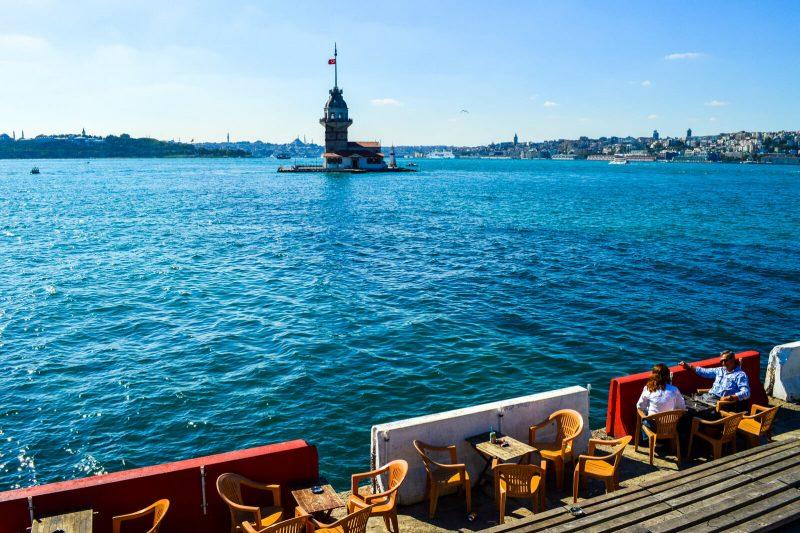 Maiden Tower in Istanbul, Turkey