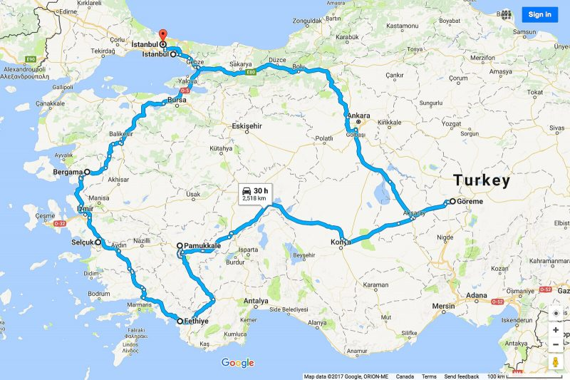 One Month in Turkey Itinerary