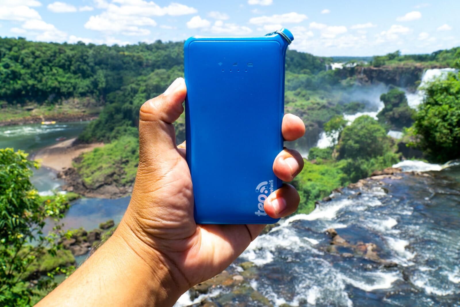 TEP Wifi at Iguazu Falls
