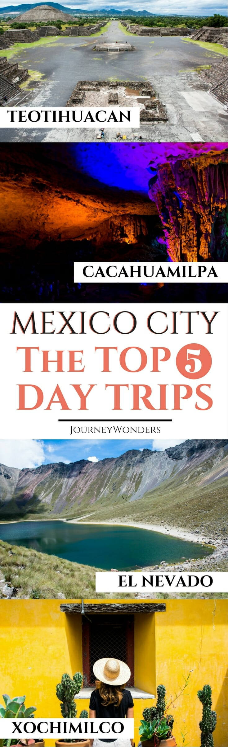 Visiting #MexicoCity? Check out the 5 Best Day Trips from #Mexico City including #Teotihuacan Pyramids , #Xochimilco , #Toluca and more!