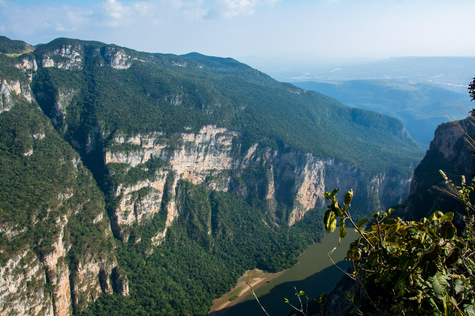 Panoramic view of the Sumidero Canyon from one of the viewpoints