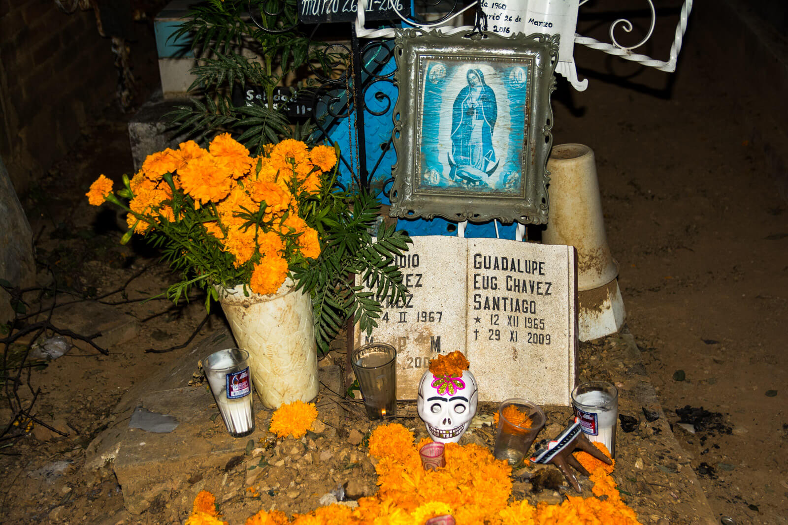 A traditional Day of the Dead altar in Oaxaca