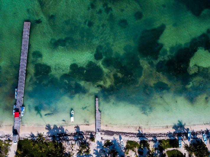 Punta Allen as seen from the skies in the Sian Kaan Biosphere