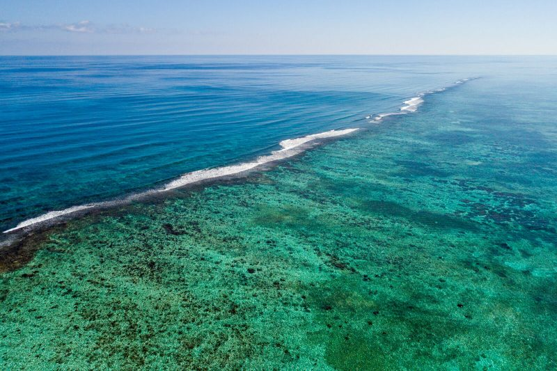 The colors of the waters of the Sian Kaan Biosphere