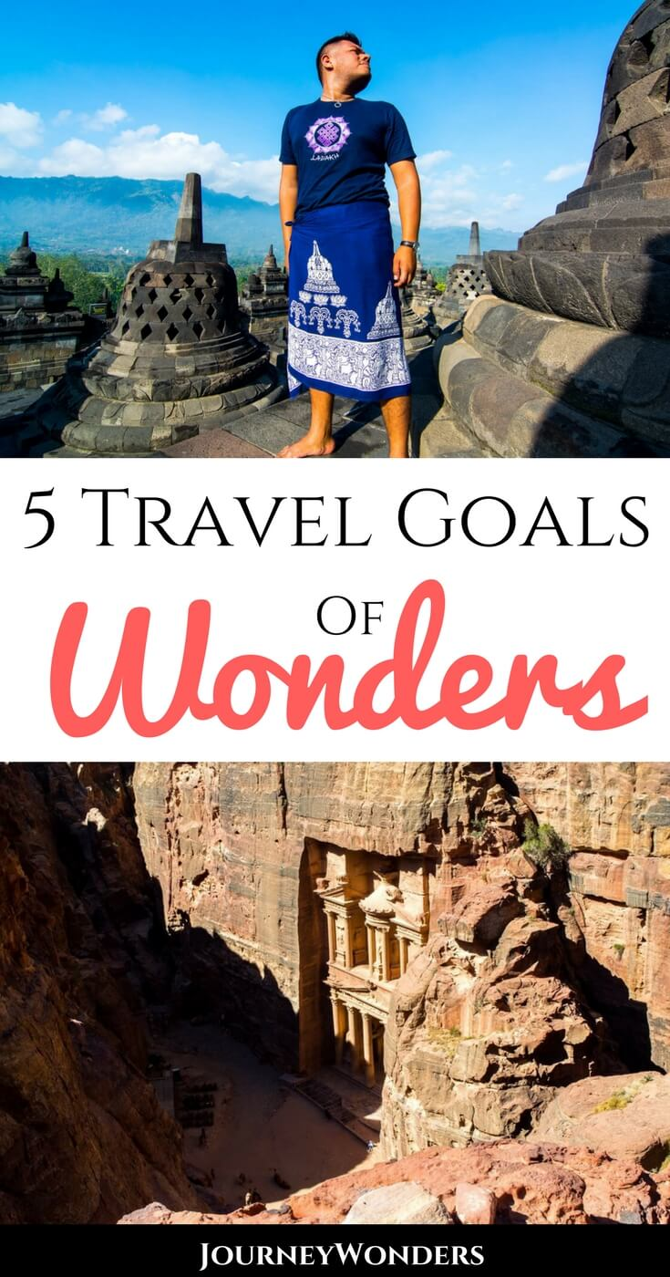 Wanna get inspired to explore new destinations of wonders? Here's a brief recap of 5 Travel Goals of Wonders to do before reaching 30!!! #Inspiration #TravelGoals