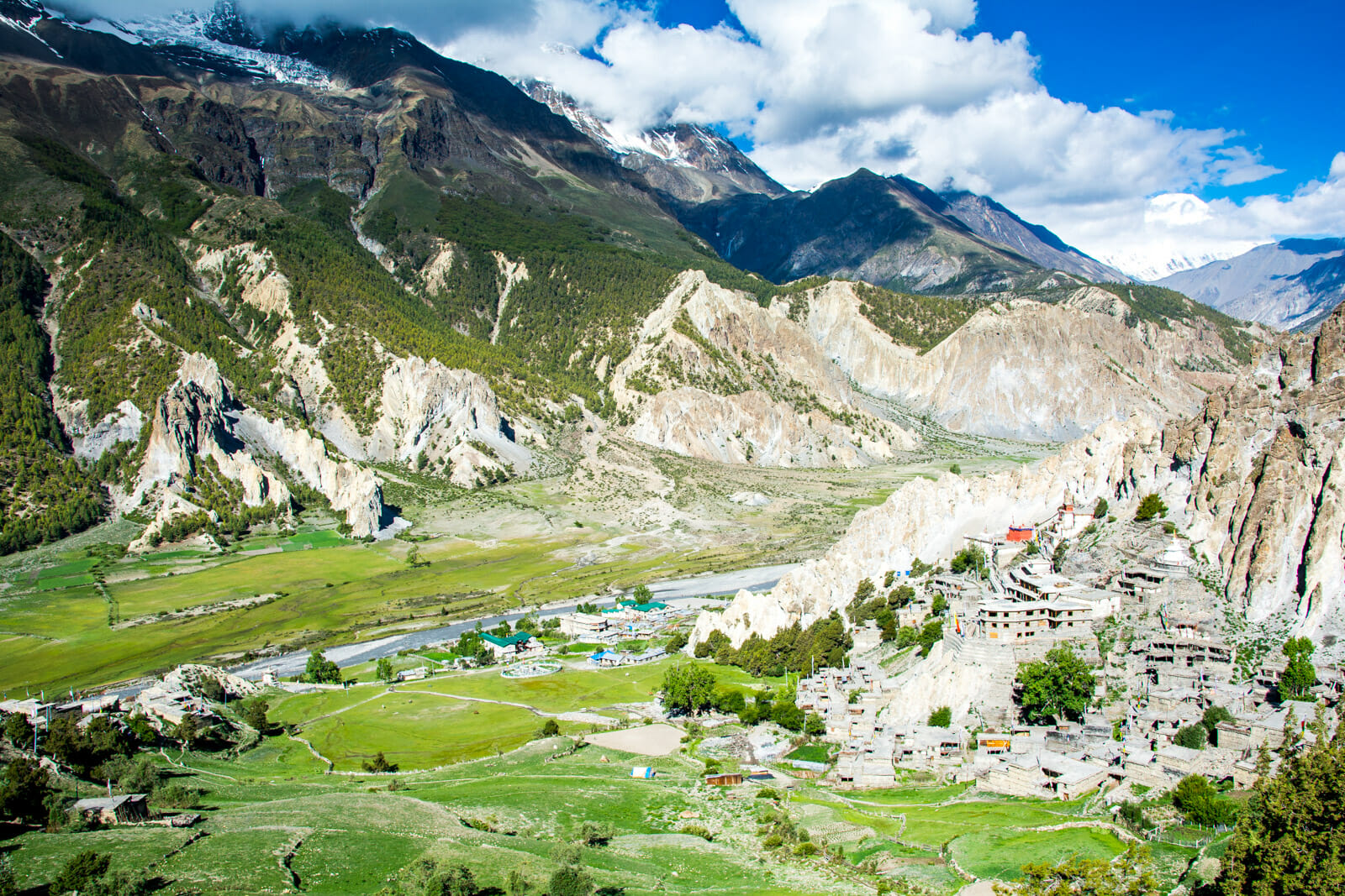 From Manang you need to backtrack a town or two to reach the Ice Lakes, Annapurna Circuit Trek