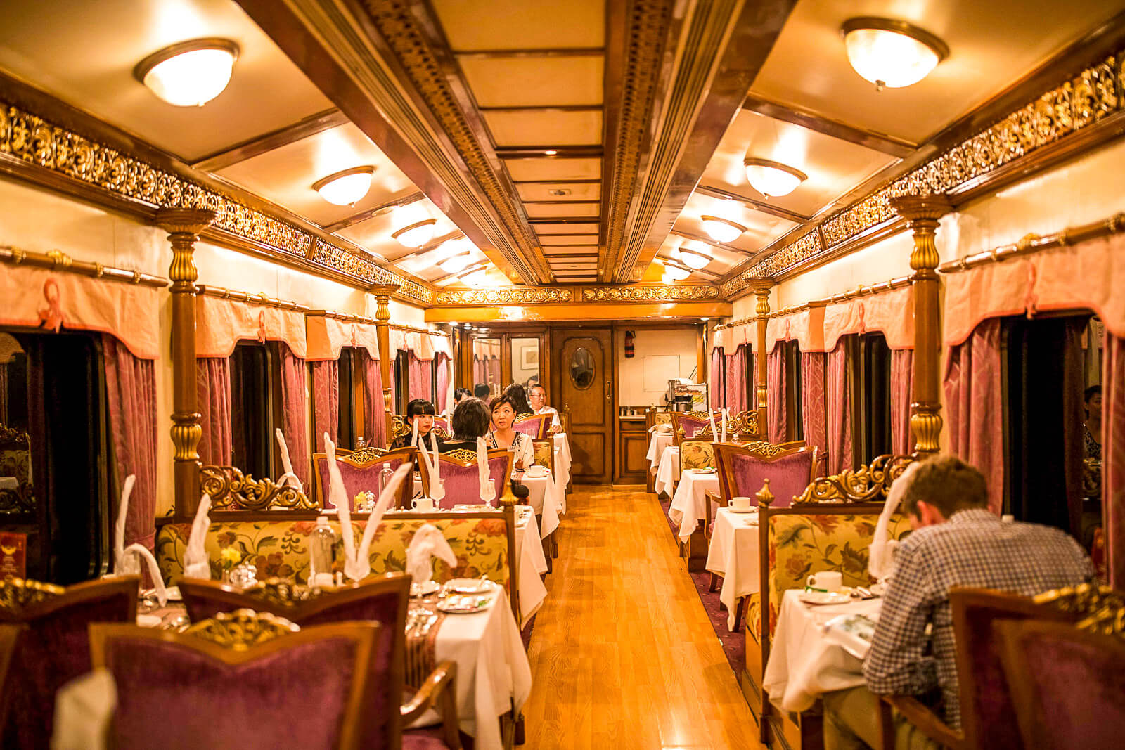 Inside the Golden Chariot, one of the Luxury Trains of India