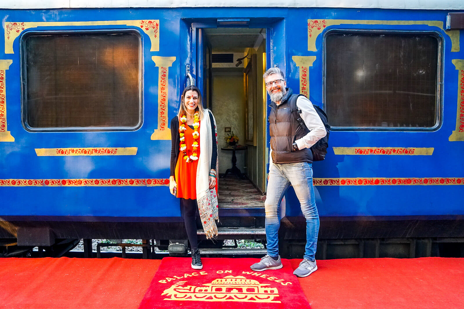Love and Road at the Palace of Wheels, one of the Luxury Trains of India