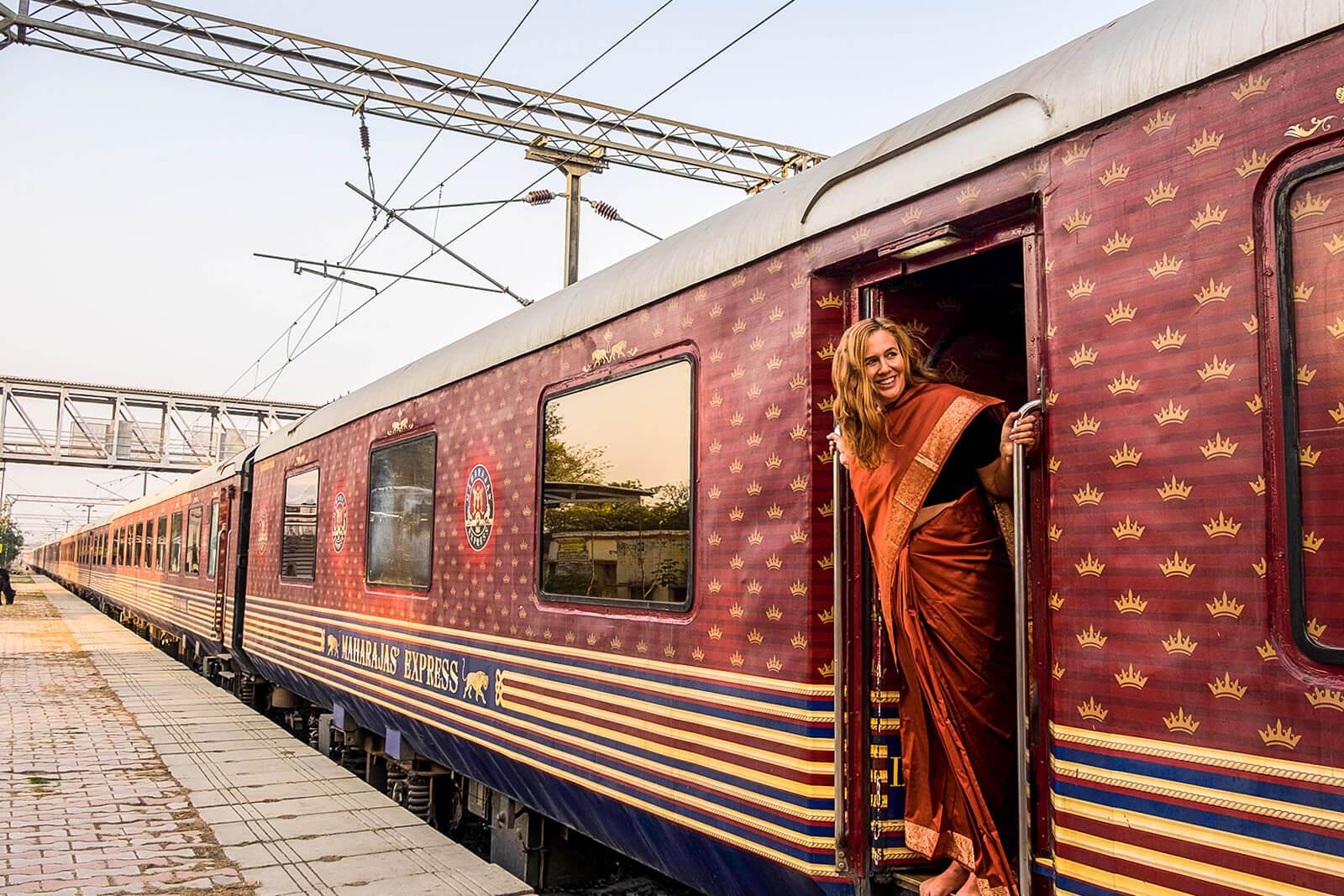 Midnight Blue Elephant at the Maharahaj Express, one of the Luxury Trains of India