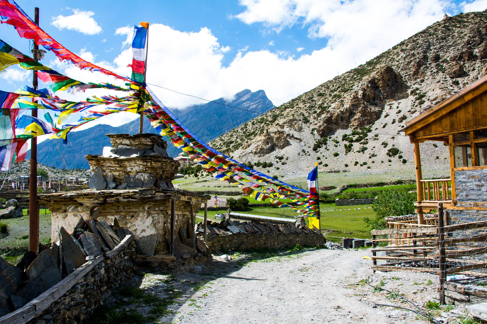 One of the many charmign towns of the Annapurna Circuit Trek