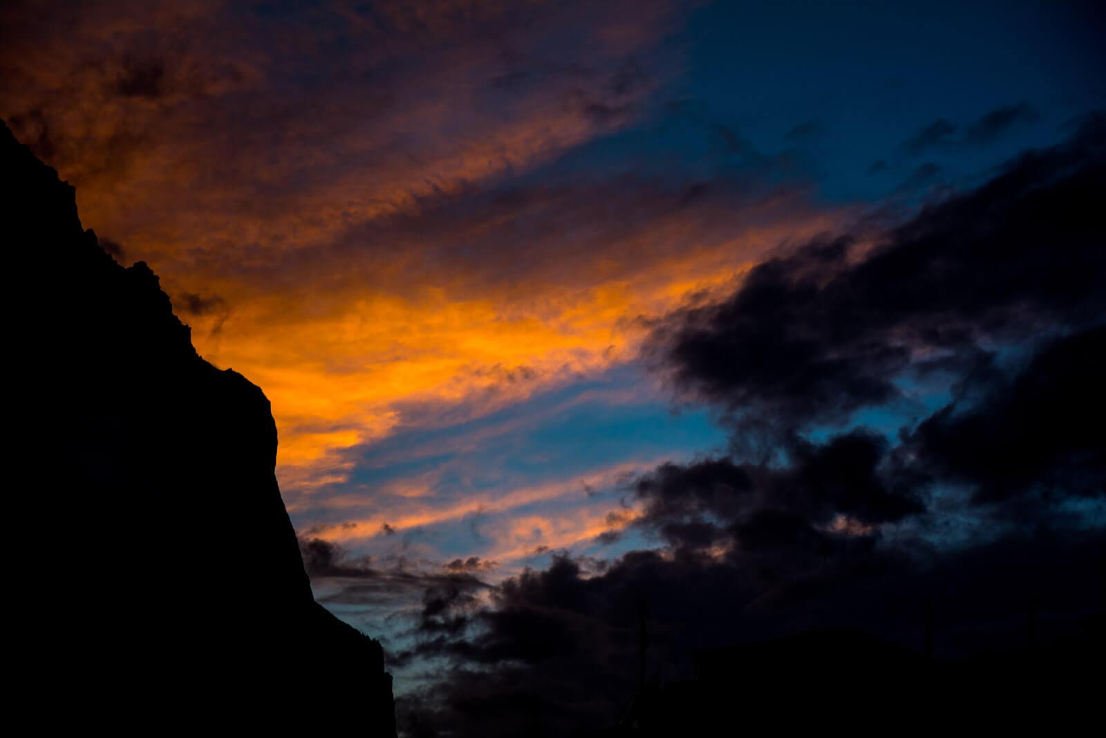Sunset of Wonders from Pisang, Annapurna Circuit Trek