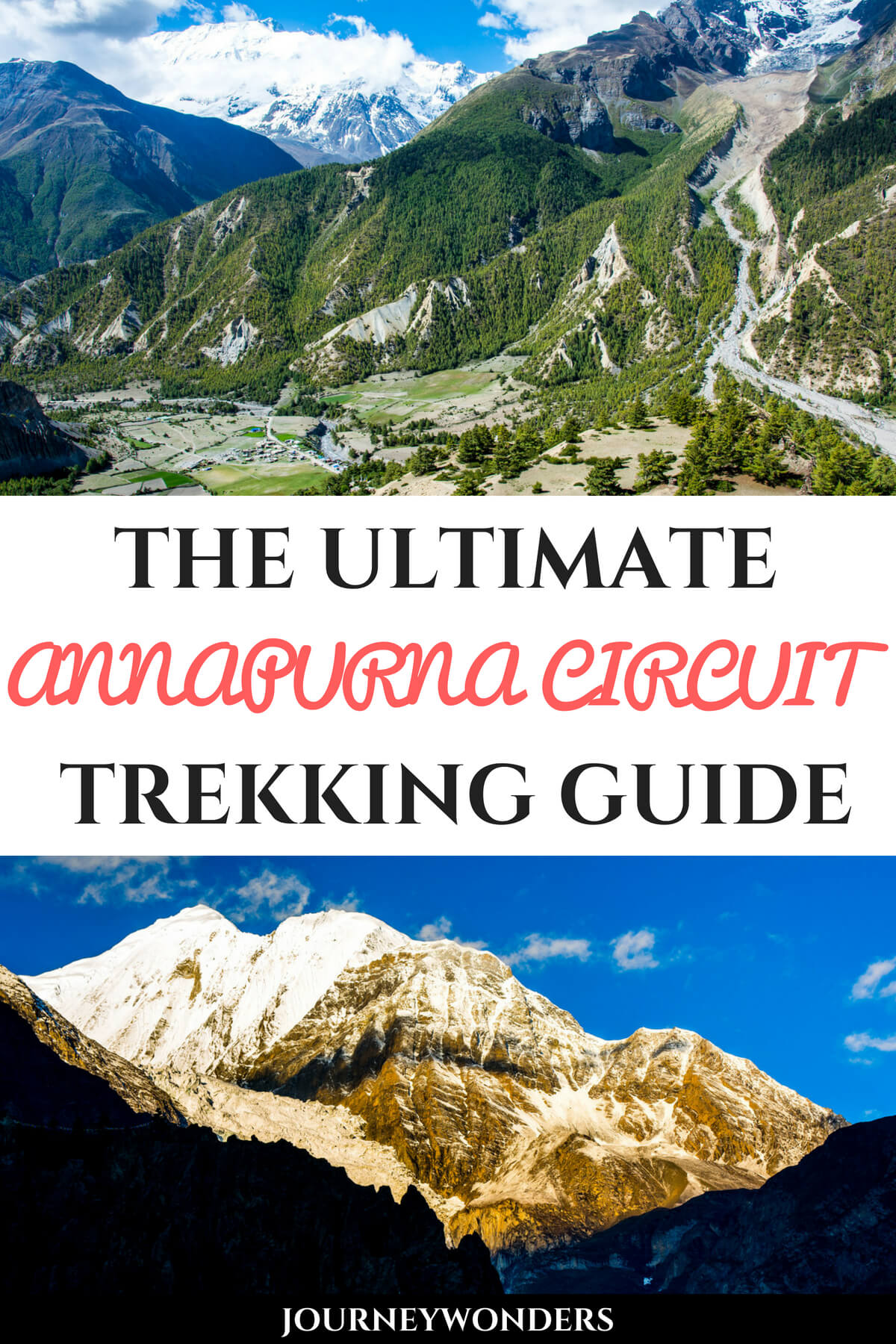 The Annapurna Circuit Trek is one of Nepal's best treks ever. Here's the Ultimate Trekking Guide to conquer the Annapurna Circuit including Trek costs, the best season to visit, what to pack, where to sleep and much more!!! #Annapurna #Nepal #Trek #Himalayas