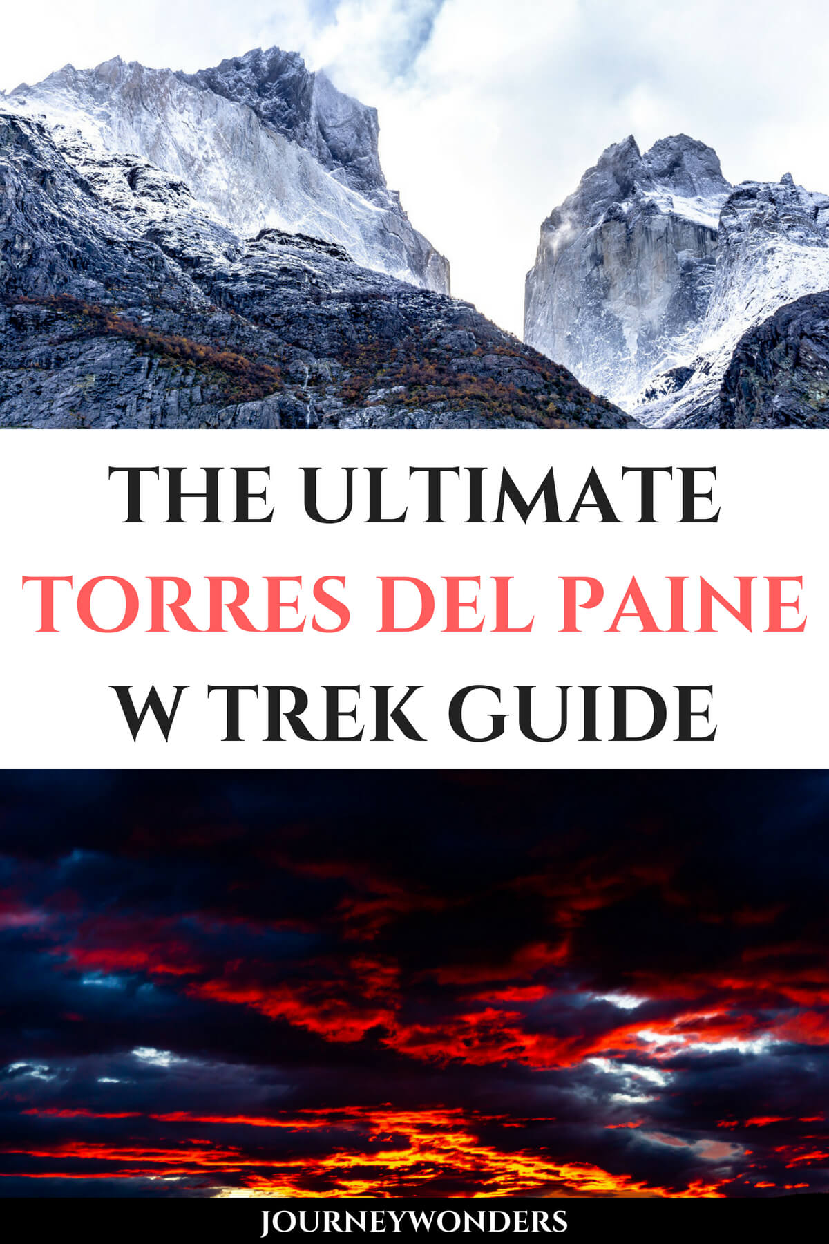 Want to learn all about the best multi day hike of Patagonia? Read this ultimate Torres del Paine W Trek Trekking Guide and get ready for the mountains of wonders!!! #Chile #Patagonia #TorresdelPaine #WTrek