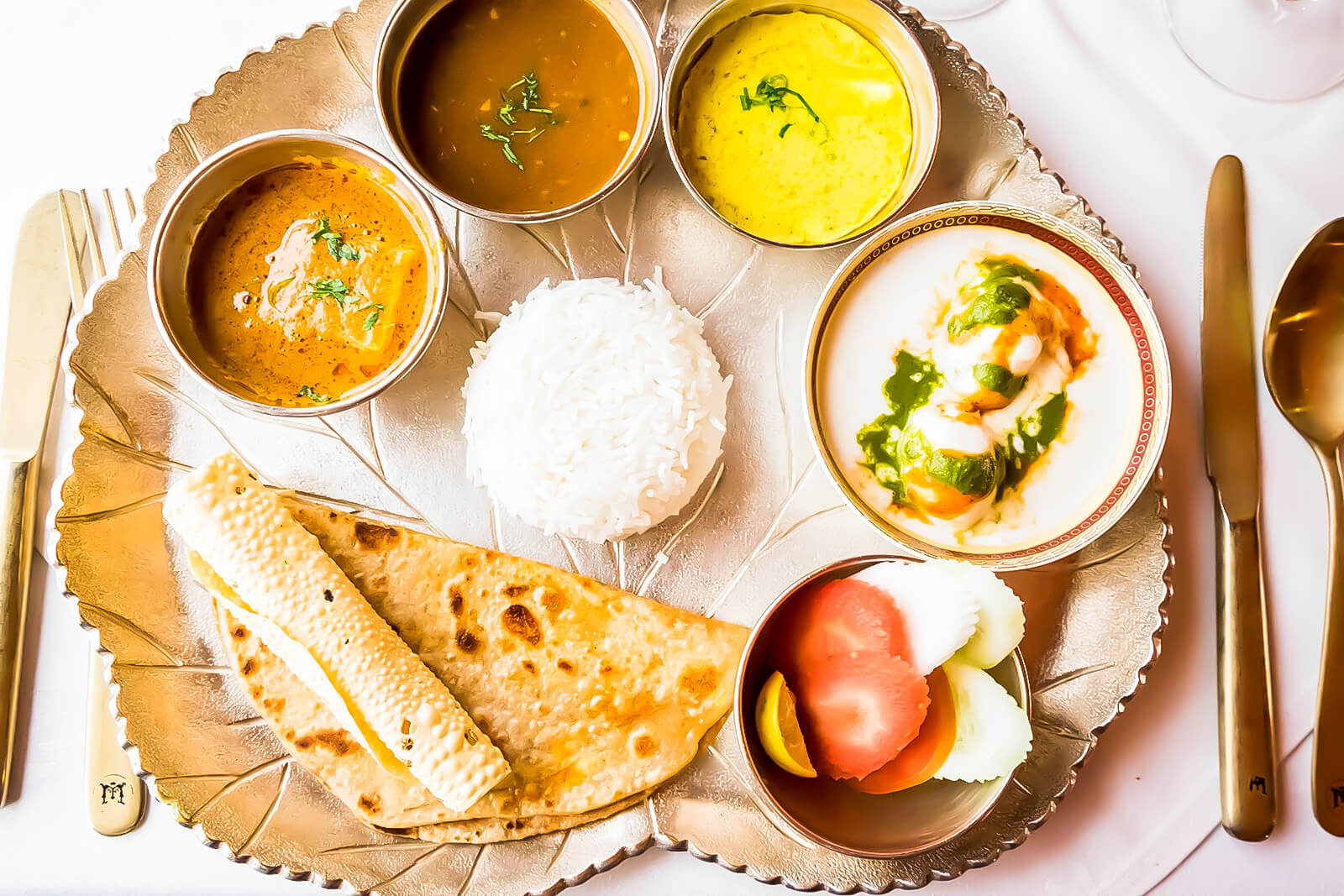 The meals aboard the Maharaja Express, one of the Luxury Trains of India