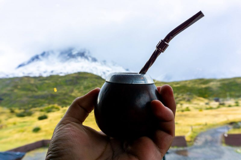 Torres del Paine W Trek Day 03 a hot drink to celebrate victory