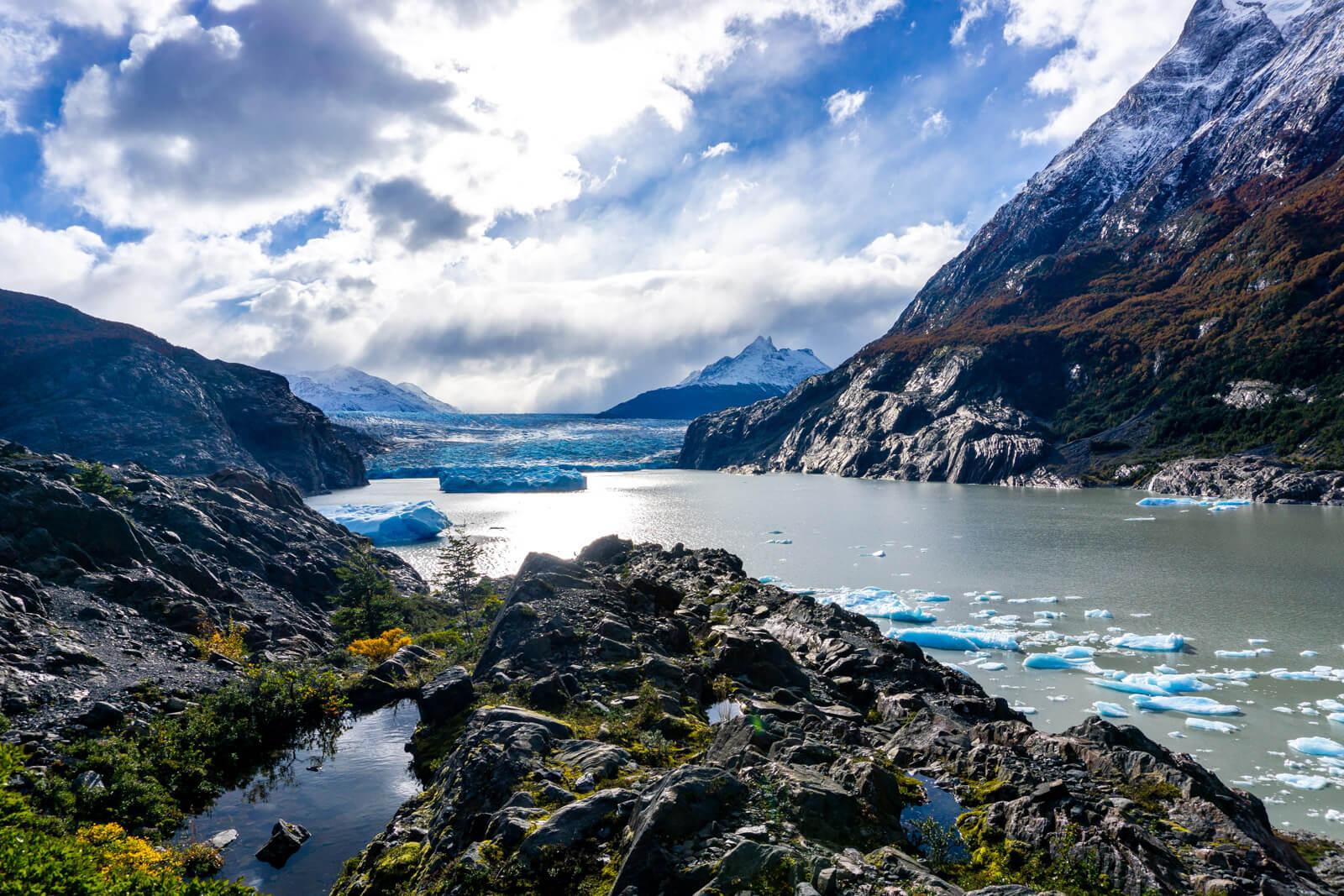 Torres del Paine W Trek Day 04 admiring the vastness of the Glacier Grey