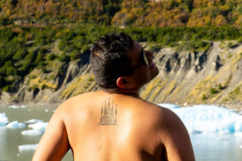 It might be wise NOT to go shirtless during the Torres del Paine W Trek