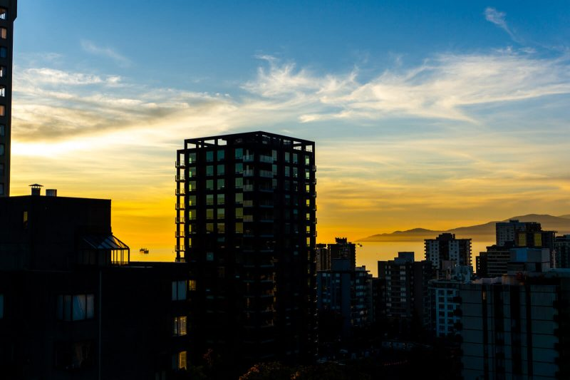 Sunset of Wonders at Vancouver, Canada best stops on the sea to sky highway during winter