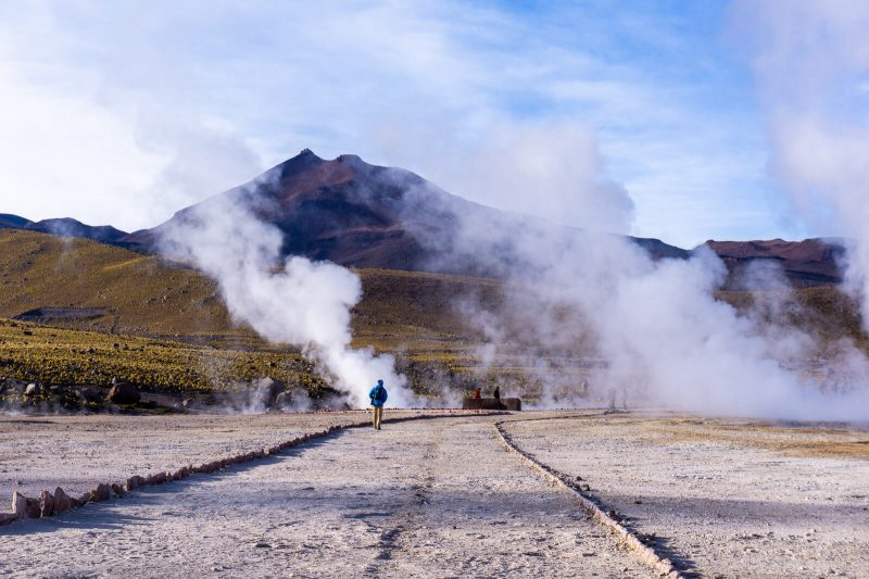 Sunrise at El Tatio Geysers