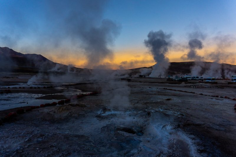 Sunrise at El Tatio Geysers, Atacama Desert