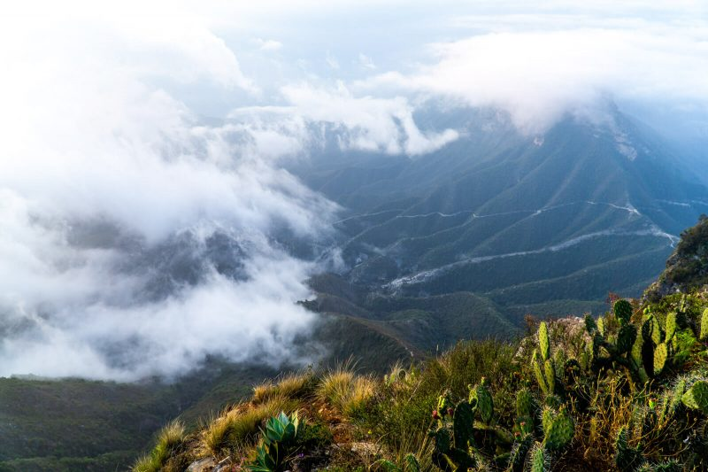 Ecotourism in the Sierra Gorda de Queretaro: Sunrise at Mirador de Cuatro Palos