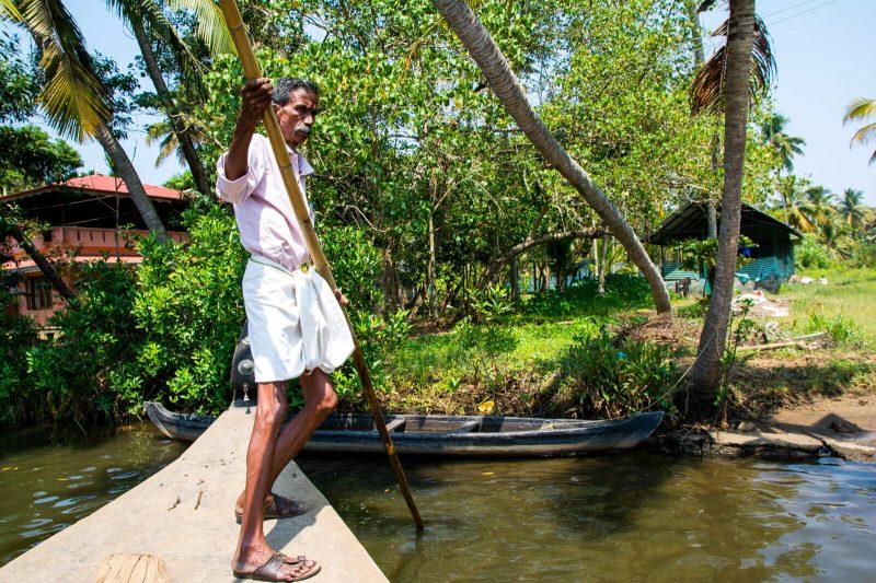 The backwaters of Kerala near Fort Kochi