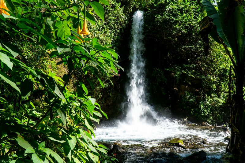 The waterfalls of the Uruapan National Park