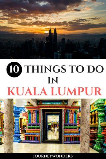 10 Things to Do and See in Kuala Lumpur #KL #KualaLumpur #Malaysia #Asia #Travel