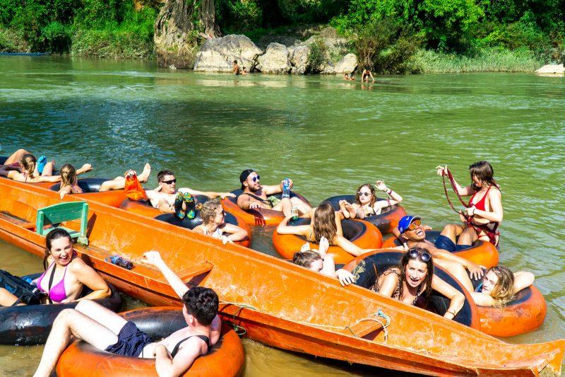 River Tubing in Vang Vieng